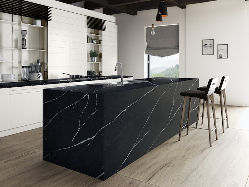 Black quartz countertops