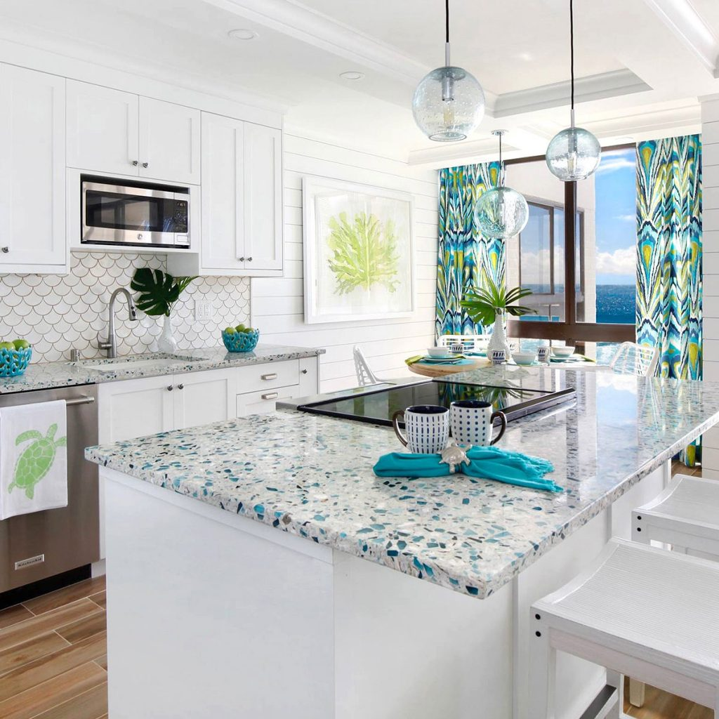 Sustainable Recycled Glass Countertops